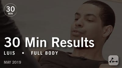 Instant Access to 30 Min Results with Luis: Full Body  |  May 2019 by Pure Barre On Demand, powered by Intelivideo