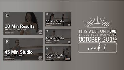 October 2019 | Week 1 by Pure Barre On Demand