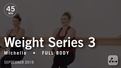 Weight Series 3 with Michelle | September 2019 by Pure Barre On Demand