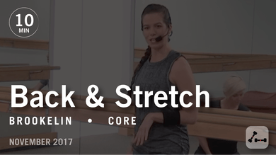 Tone in 10 with Brookelin: Back & Stretch  |  November 2017 by Pure Barre On Demand