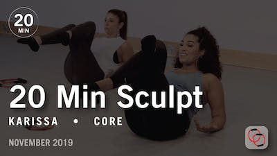 20 Min Sculpt with Karissa | November 2019 by Pure Barre On Demand