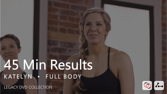 Instant Access to 45 Min Results with Katelyn by Pure Barre On Demand, powered by Intelivideo