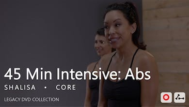 45 Min Intensive with Shalisa  |  Abs by Pure Barre On Demand
