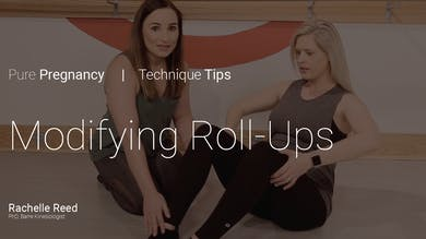 Pregnancy Technique Tips: Modifying Roll-Ups by Pure Barre On Demand