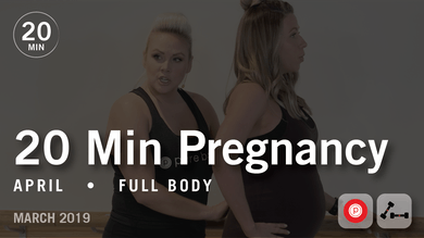 20 Min Pregnancy with April #2: Full Body | March 2019 by Pure Barre On Demand