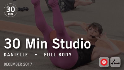 Instant Access to 30 Min Studio with Danielle: Full Body  |  December 2017 by Pure Barre On Demand, powered by Intelivideo