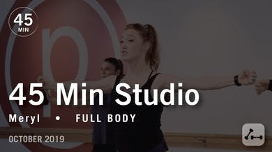 45 Min Studio with Meryl | October 2019 by Pure Barre On Demand