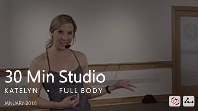 30 Min Studio with Katelyn  |  January by Pure Barre On Demand