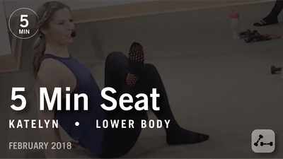 5 Min Burn with Katelyn: Seat  |  February 2018 by Pure Barre On Demand