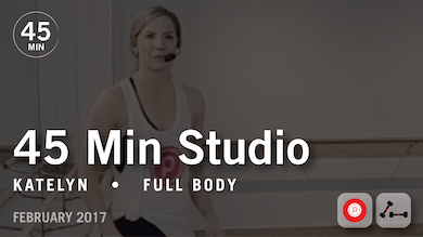 45 Min Studio with Katelyn: Full Body  |  February 2017 by Pure Barre On Demand