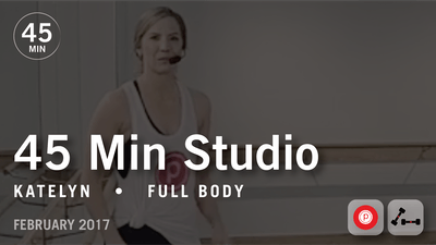 Instant Access to 45 Min Studio with Katelyn: Full Body  |  February 2017 by Pure Barre On Demand, powered by Intelivideo