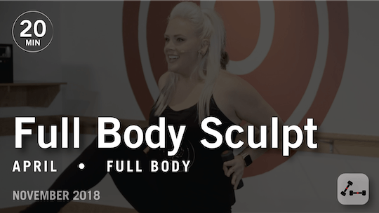 Instant Access to Sculpt in 20 with April: Full Body  |  November 2018 by Pure Barre On Demand, powered by Intelivideo