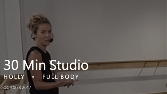 Instant Access to 30 Min Studio with Holly  |  October by Pure Barre On Demand, powered by Intelivideo