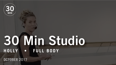 30 Min Studio with Holly: Full Body  |  October 2017 by Pure Barre On Demand