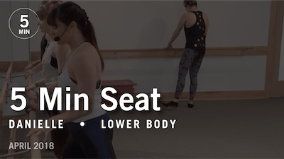 Instant Access to 5 Min Burn with Danielle: Seat  |  April 2018 by Pure Barre On Demand, powered by Intelivideo