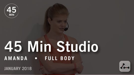 Instant Access to 45 Min Studio with Amanda: Full Body  |  January 2018 by Pure Barre On Demand, powered by Intelivideo