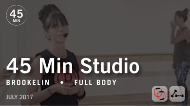 45 Min Studio with Brookelin: Full Body  |  July 2017 by Pure Barre On Demand