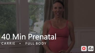 40 Min Prenatal with Carrie by Pure Barre On Demand