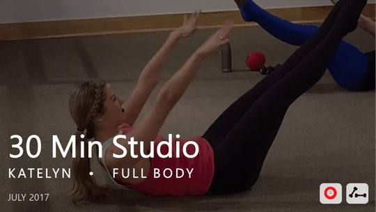 Instant Access to 30 Min Studio with Katelyn  |  July by Pure Barre On Demand, powered by Intelivideo