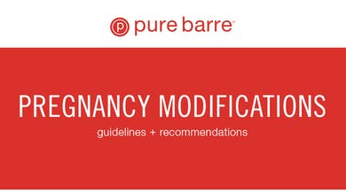Pregnancy Modifications by Pure Barre On Demand