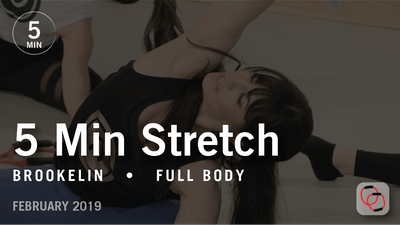 5 Min Stretch with Brookelin: Full Body  |  February 2019 by Pure Barre On Demand