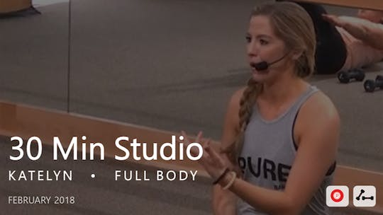Instant Access to 30 Min Studio with Katelyn  |  February by Pure Barre On Demand, powered by Intelivideo