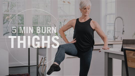 5 Min Burn: Thighs by Pure Barre On Demand