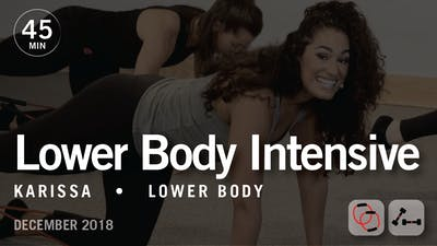 45 Min Intensive with Karissa: Lower Body  |  December 2018 by Pure Barre On Demand