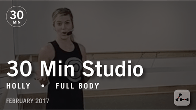 30 Min Studio with Holly: Full Body  |  February 2017 by Pure Barre On Demand