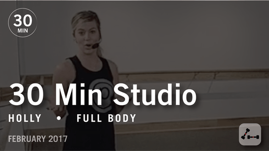 Instant Access to 30 Min Studio with Holly: Full Body  |  February 2017 by Pure Barre On Demand, powered by Intelivideo