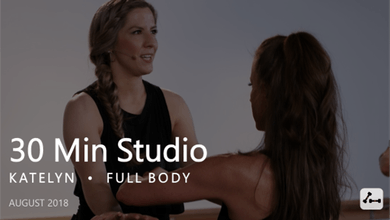 30 Min Studio with Katelyn  |  August by Pure Barre On Demand