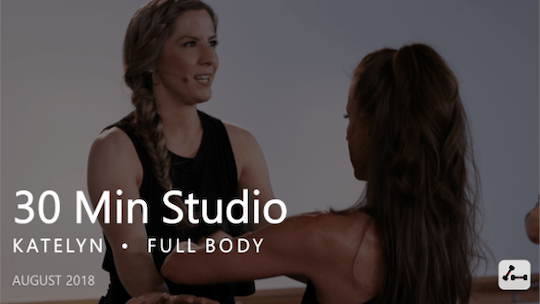 Instant Access to 30 Min Studio with Katelyn  |  August by Pure Barre On Demand, powered by Intelivideo