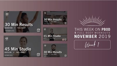 November 2019 | Week 1 by Pure Barre On Demand