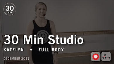 30 Min Studio with Katelyn: Full Body  |  December 2017 by Pure Barre On Demand