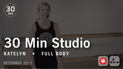 Instant Access to 30 Min Studio with Katelyn: Full Body  |  December 2017 by Pure Barre On Demand, powered by Intelivideo