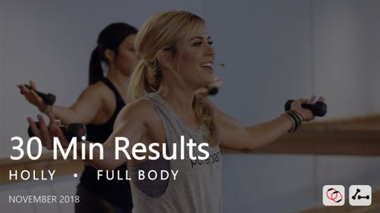 Instant Access to 30 Min Results with Holly: Full Body  |  November 2018 by Pure Barre On Demand, powered by Intelivideo