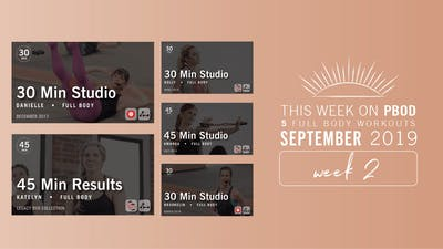 September 2019 | Week 2 by Pure Barre On Demand
