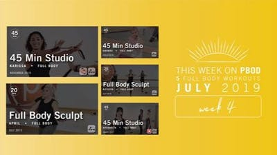 July 2019 | Week 4 by Pure Barre On Demand