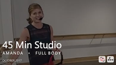 45 Min Studio with Amanda  |  October by Pure Barre On Demand
