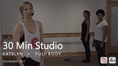 30 Min Studio with Katelyn  |  November by Pure Barre On Demand