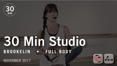 30 Min Studio with Brookelin: Full Body  |  November 2017 by Pure Barre On Demand