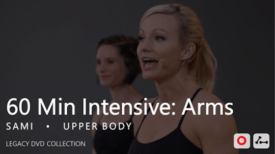Instant Access to 60 Min Intensive with Sami  |  Arms by Pure Barre On Demand, powered by Intelivideo