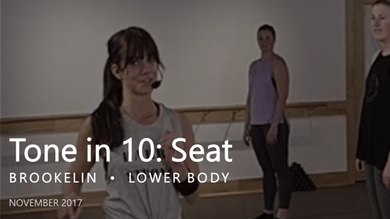 Tone in 10: Seat  |  November by Pure Barre On Demand