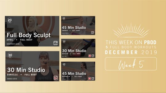 December 2019 | Week 5 by Pure Barre On Demand