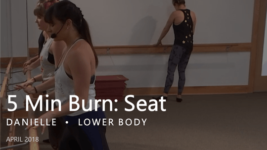 Instant Access to 5 Min Burn: Seat  |  April by Pure Barre On Demand, powered by Intelivideo