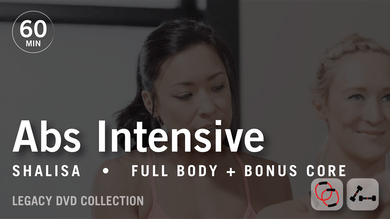 60 Min Intensive with Shalisa: Abs  |  Legacy DVD Collection by Pure Barre On Demand