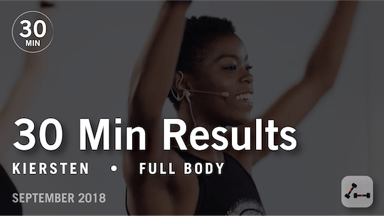 Instant Access to 30 Min Results with Kiersten: Full Body  |  September 2018 by Pure Barre On Demand, powered by Intelivideo