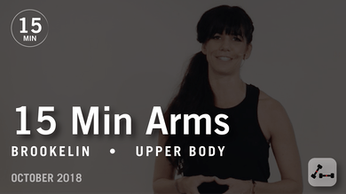 15 Min Flex with Brookelin: Arms  |  October 2018 by Pure Barre On Demand