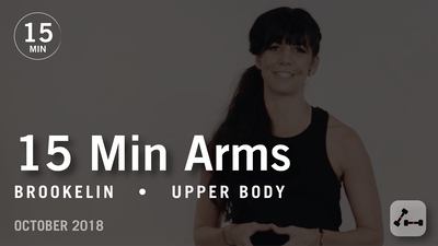 Instant Access to 15 Min Flex with Brookelin: Arms  |  October 2018 by Pure Barre On Demand, powered by Intelivideo