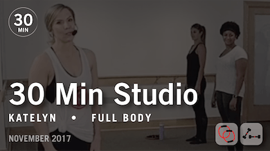 30 Min Studio with Katelyn: Full Body  |  November 2017 by Pure Barre On Demand